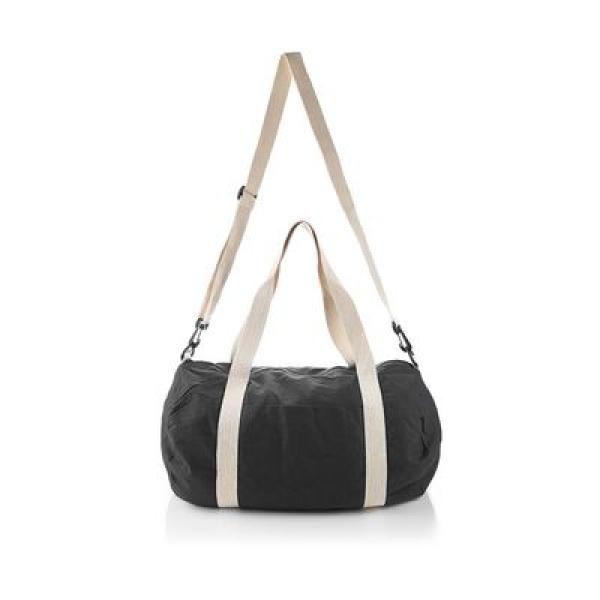The Cotton Barrel Duffel Travel Bag / Trolley Case Bags Give Back TTB6010_BlackThumb1