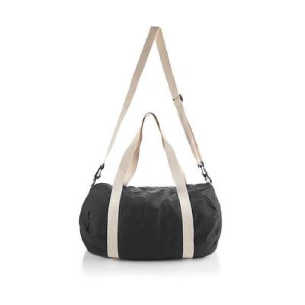 The Cotton Barrel Duffel Travel Bag / Trolley Case Bags Give Back TTB6010_BlackThumb2