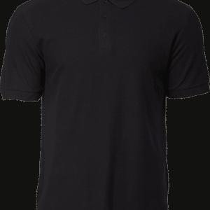 Gildan Cotton Polo Tee Apparel Black