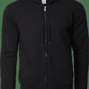 88600 Gildan Full Zip Hooded Sweatshirt Apparel Black