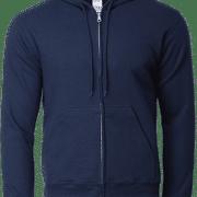 88600 Gildan Full Zip Hooded Sweatshirt Apparel Navy