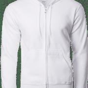 88600 Gildan Full Zip Hooded Sweatshirt Apparel White