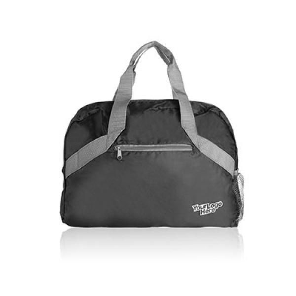 Packway Fold Up Travel Duffel Travel Bag / Trolley Case Bags TTB6006_Thumb_Black_Logo