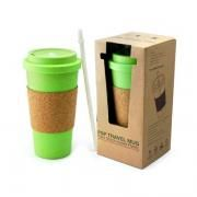 PSP Ice Beverage Travel Mug With Cork Sleeve & Straw Household Products Drinkwares Best Deals CLEARANCE SALE UMG1502