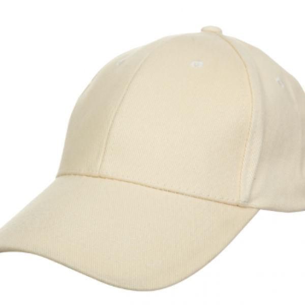 Baseball Cotton Brush Cap Headgears beige