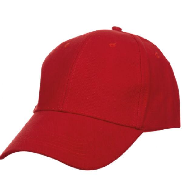Baseball Cotton Brush Cap Headgears red