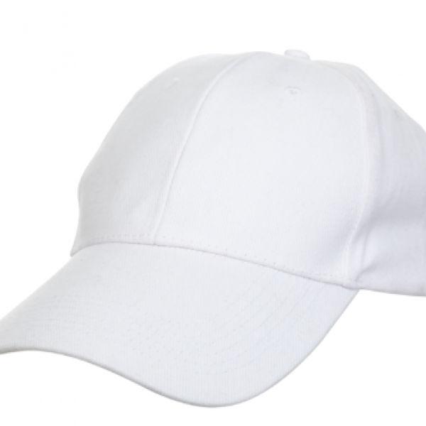 Baseball Cotton Brush Cap Headgears white