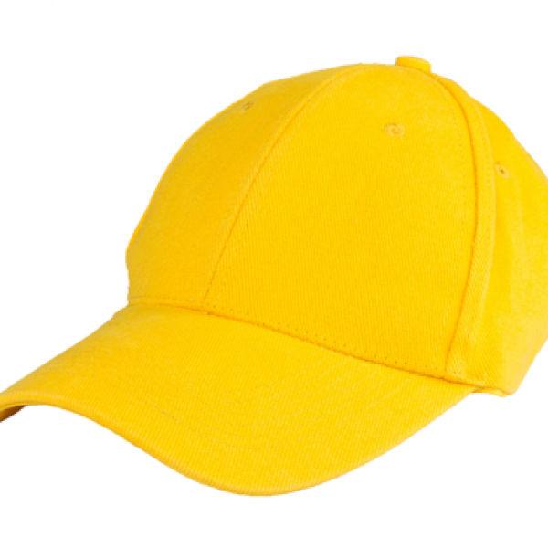 Baseball Cotton Brush Cap Headgears yellow