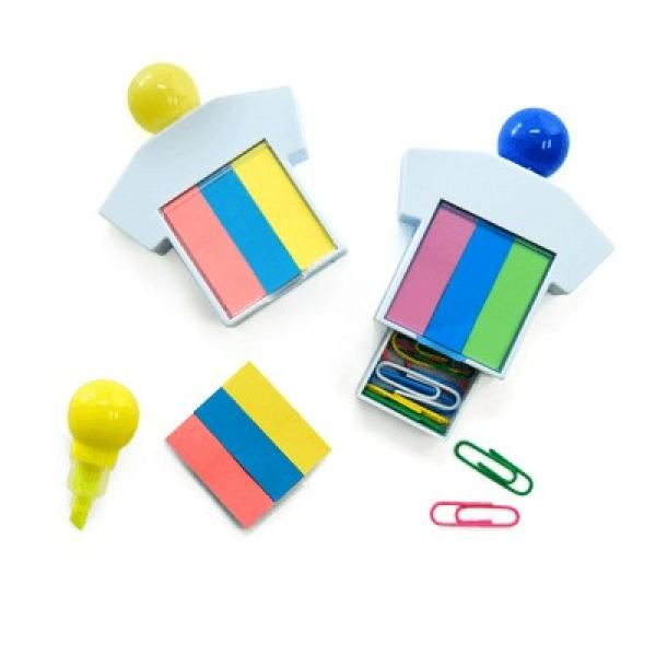 Highlighter With Sticky Notes and Paper Clips Office Supplies Other Office Supplies Best Deals Largeprod867