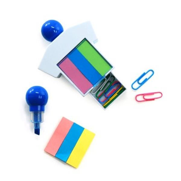 Highlighter With Sticky Notes and Paper Clips Office Supplies Other Office Supplies Best Deals Productview1867