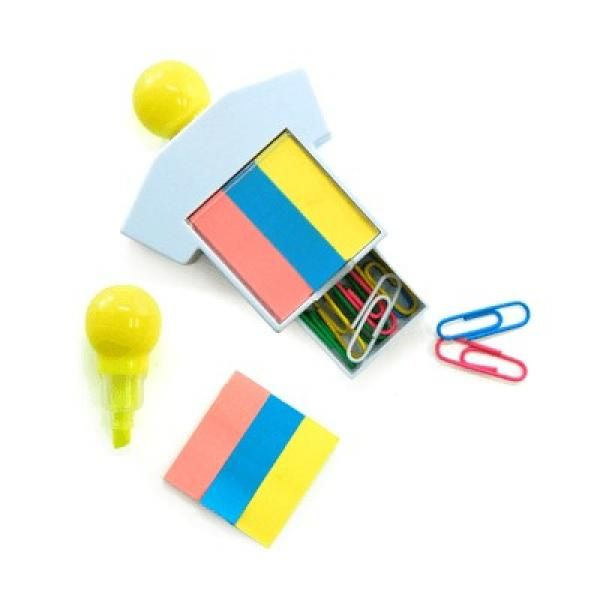 Highlighter With Sticky Notes and Paper Clips Office Supplies Other Office Supplies Best Deals Productview2867
