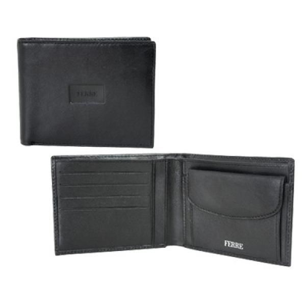 Ferre Man Leather Wallet W Coin Purse&Cr.card Holder Small Leather Goods Leather Holder Other Bag Travel & Outdoor Accessories Other Travel & Outdoor Accessories Bags Largeprod467