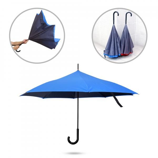 Inverted Umbrella Umbrella Straight Umbrella UMS1306BlueFunctionHD