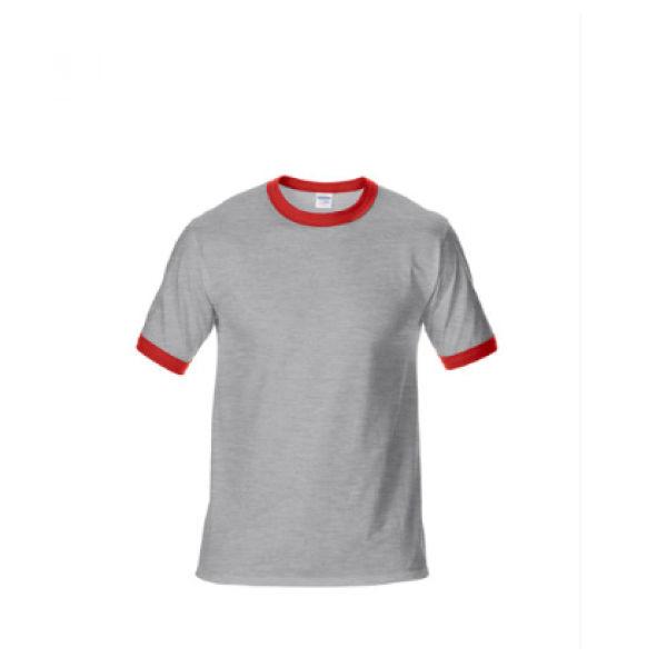 76600 Gildan Ringer Tee Apparel Shirts NATIONAL DAY greywithred