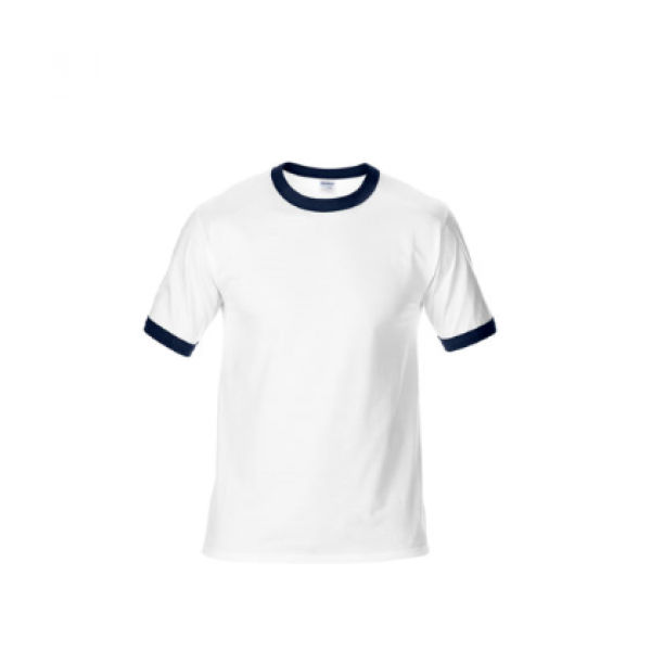 76600 Gildan Ringer Tee Apparel Shirts NATIONAL DAY whitewithblue
