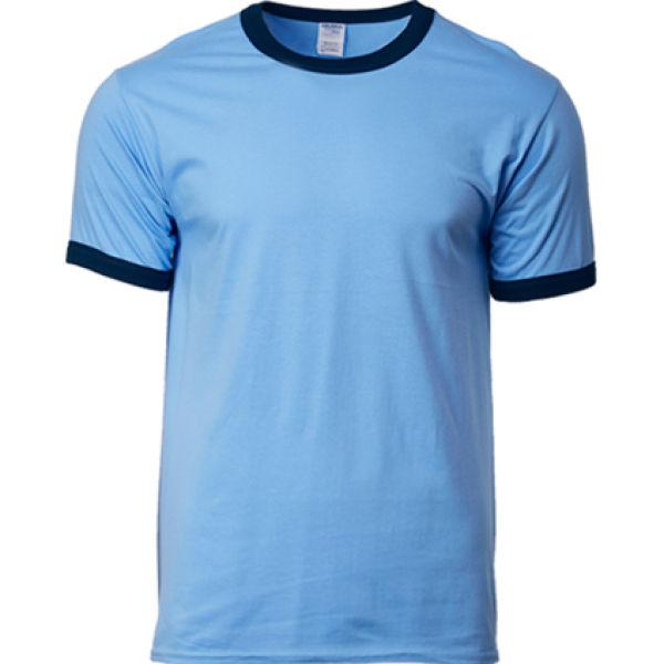 76600 Gildan Ringer Tee Apparel Shirts NATIONAL DAY bluewithblack