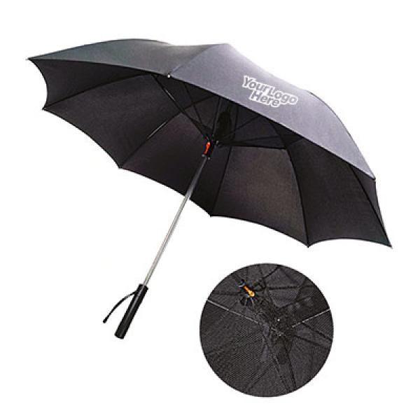 Camacho Umbrella with Fan and Powerbank Umbrella Straight Umbrella UMS1005LogoThumb