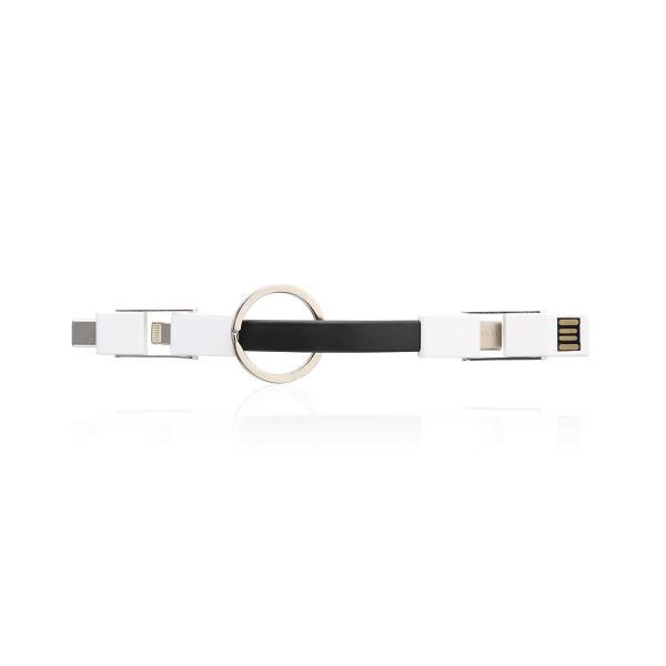 Levine 3 in 1 Magnetic Short USB Charge Cable Electronics & Technology Computer & Mobile Accessories Promotion EMA1013_FunctionHD