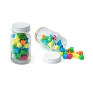 Cube Shape Push Pin in Glass Jar Office Supplies Other Office Supplies Best Deals Largeprod815