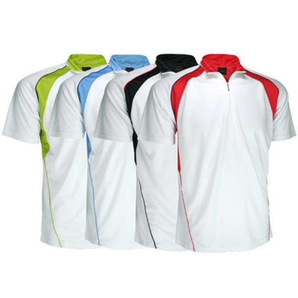 Cool Dry Mandarin Collar T-shirt w/ Zip Apparel Shirts Best Deals Productview11565