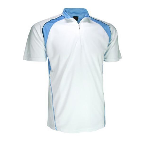 Cool Dry Mandarin Collar T-shirt w/ Zip Apparel Shirts Best Deals Productview31565