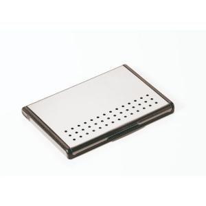 Troika Mr. Slowhand Business Card Case Metals & Hardwares Other Metal & Hardwares Card Holder LHK1012SLV-TK-T2