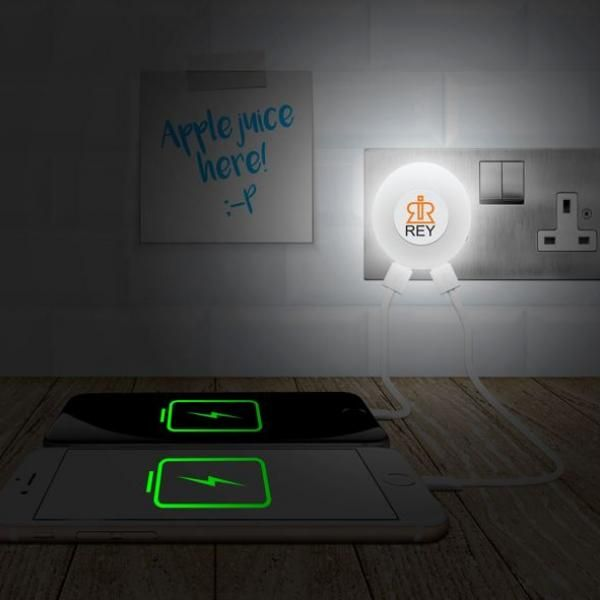 Glow 2 Nightlight USB Charger With Enlarged LED Logo Electronics & Technology Computer & Mobile Accessories 4