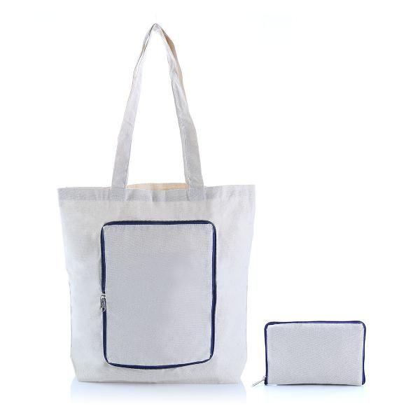 Foldable Zipper Tote Bag Tote Bag / Non-Woven Bag Bags RACIAL HARMONY DAY TNW1040_BlueHD