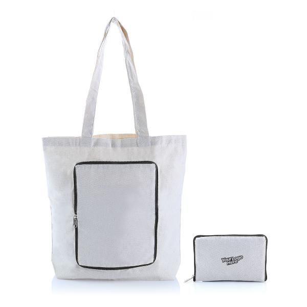 Foldable Zipper Tote Bag Tote Bag / Non-Woven Bag Bags RACIAL HARMONY DAY TNW1040_LogoHD
