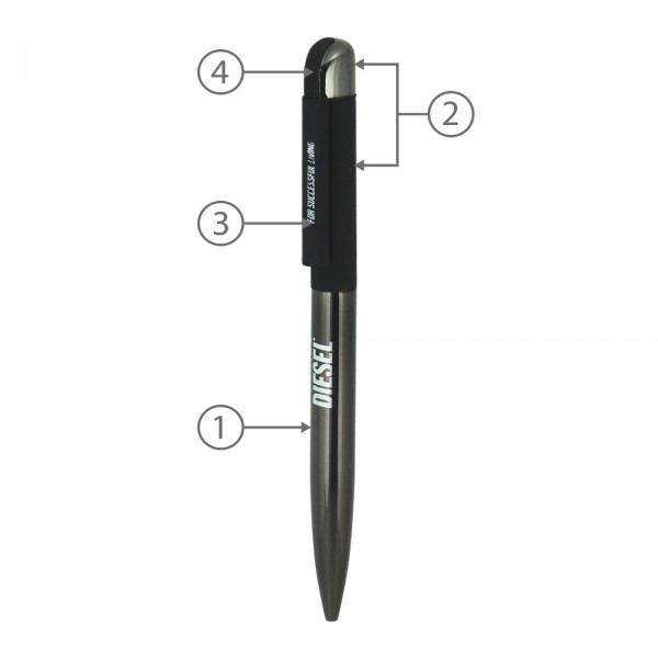 BND62 Folk Twist Metal Ball Pen Office Supplies Pen & Pencils BND62Folk-2