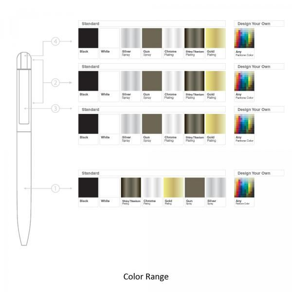 BND62 Folk Twist Metal Ball Pen Office Supplies Pen & Pencils BND62Folk-7