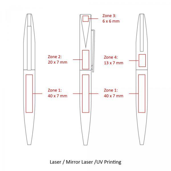 BND66 Slim Twist Metal Ball Pen Office Supplies Pen & Pencils BND66SLIM-6
