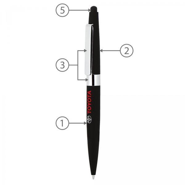 BND77S Peri Stylus Twist Metal Ball Pen Office Supplies Pen & Pencils BND77S-2