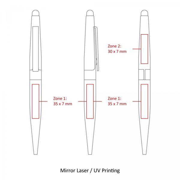 BND77S Peri Stylus Twist Metal Ball Pen Office Supplies Pen & Pencils BND77S-5