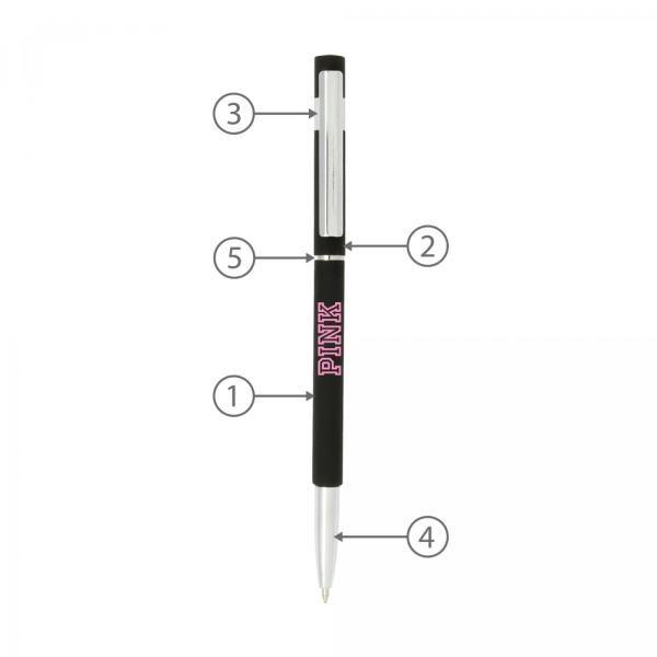 BND70 Hex Thin Twist Metal Ball Pen Office Supplies Pen & Pencils BND70-2