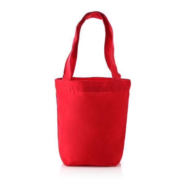 S Mini Cotton Tote Bag Tote Bag / Non-Woven Bag Bags Best Deals Eco Friendly TNW1038RedHD