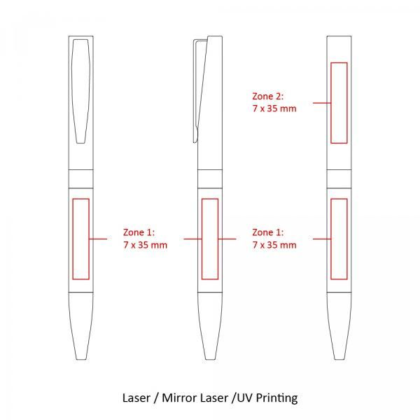 BND86 Nolo Twist Metal Ball Pen Office Supplies Pen & Pencils BND86-6