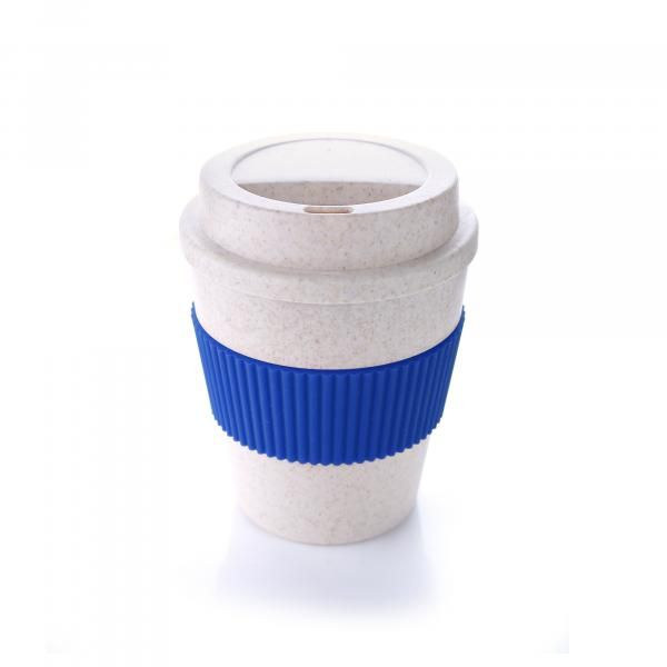 Bamboo Fibre Coffee Mug With Colour Sleeve Household Products Drinkwares HDC1037HD_Blu