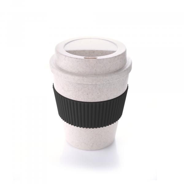 Bamboo Fibre Coffee Mug With Colour Sleeve Household Products Drinkwares HDC1037HD_Blk