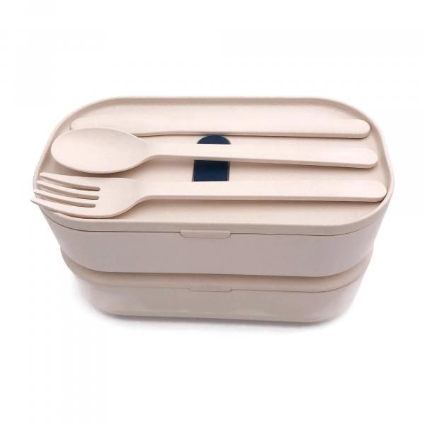 2-tier Lunch Box with Cutlery Set Household Products Kitchenwares IMG_0892