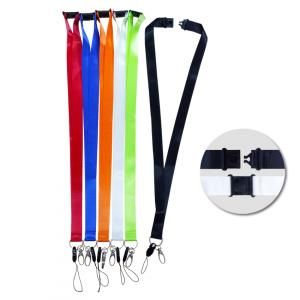 20mm Safety Breaker Lanyard with HP & Metal Clip Lanyards & Pull Reels fg-54