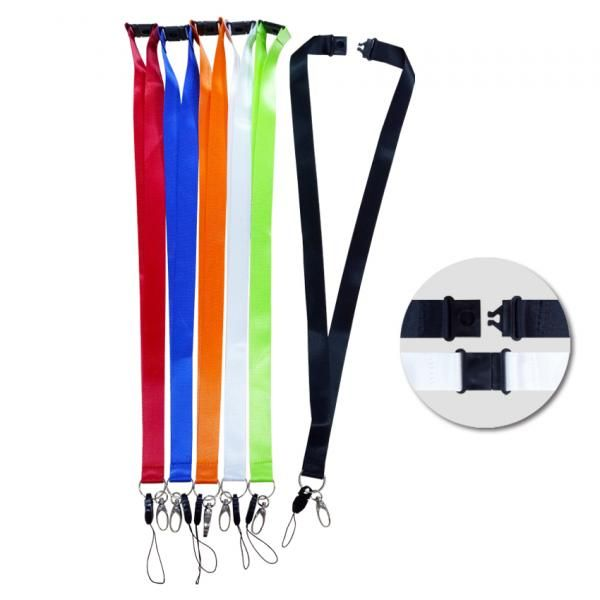 20mm Safety Breaker Lanyard with HP & Metal Clip Lanyards & Pull Reels New Products fg-54