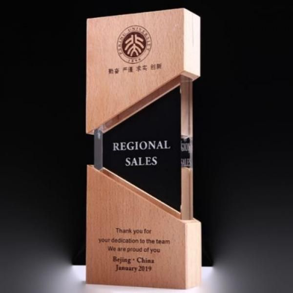 ZhuoYue Wooden Crystal Awards Awards & Recognition CRYSTAL New Products AWC1209