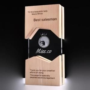 KaiChuang Wooden Crystal Awards Awards & Recognition CRYSTAL New Products AWC1210