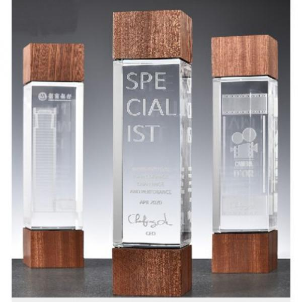 Glory Wooden Crystal Awards Awards & Recognition CRYSTAL New Products AWC1216