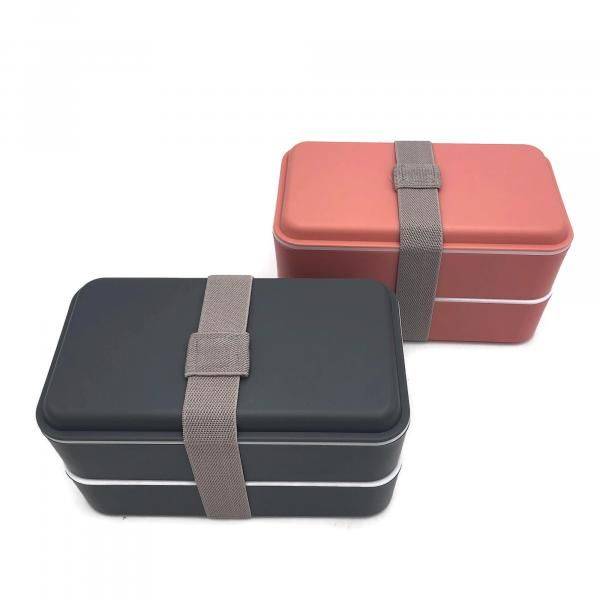 Rubber Tied Double Layer Lunch Box with Cutlery Set Household Products Kitchenwares Back To School IMG_1560