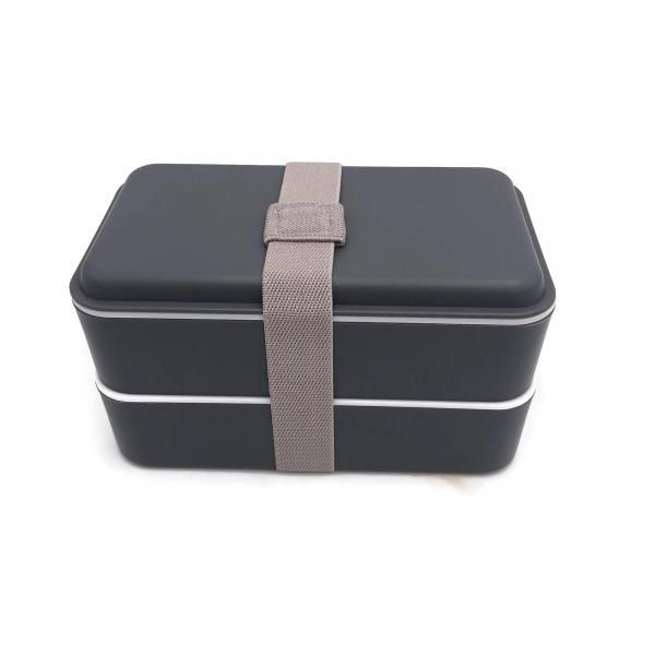 Rubber Tied Double Layer Lunch Box with Cutlery Set Household Products Kitchenwares Back To School IMG_1561
