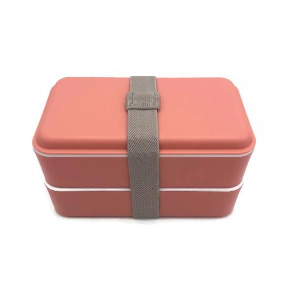 Rubber Tied Double Layer Lunch Box with Cutlery Set Household Products Kitchenwares Back To School IMG_1567