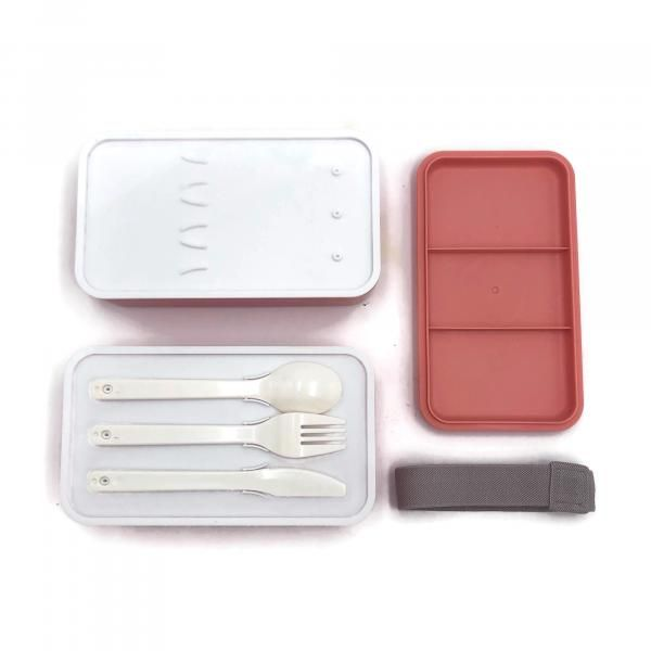 Rubber Tied Double Layer Lunch Box with Cutlery Set Household Products Kitchenwares Back To School IMG_1568