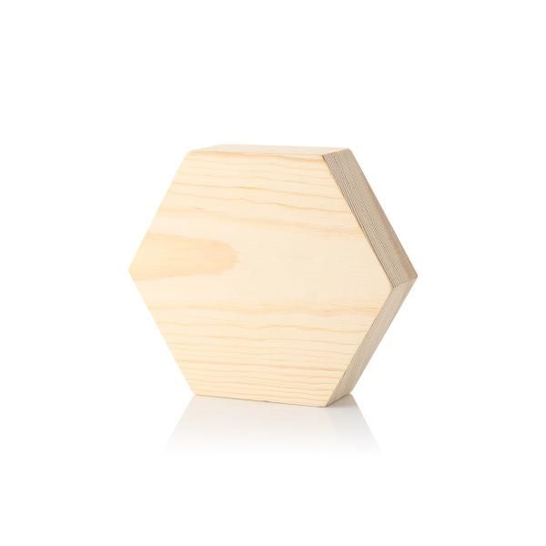 Wooden Hexagon Shape 3cm  2 side print Awards & Recognition Awards New Products Printing & Packaging AAO1011HD